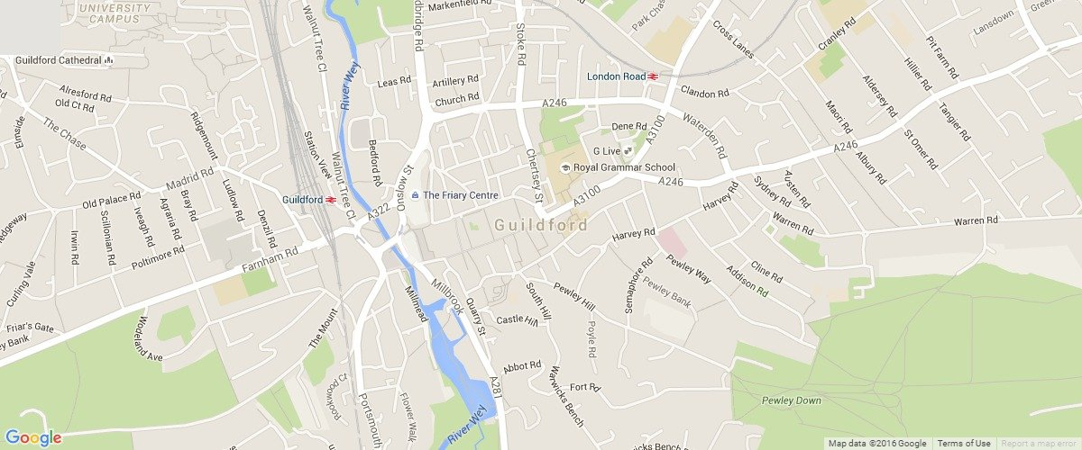 Guildford-map