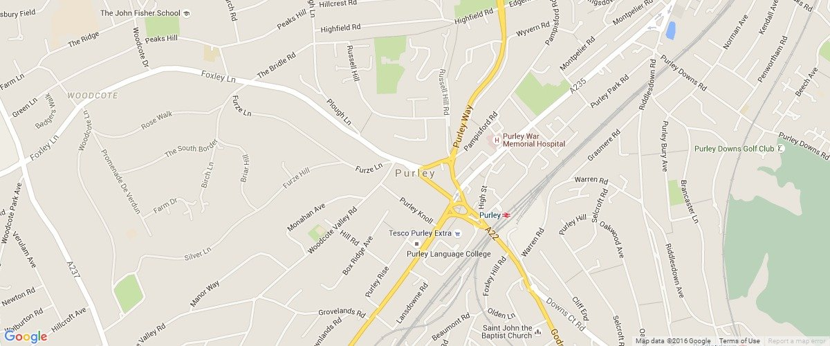 Purley-map