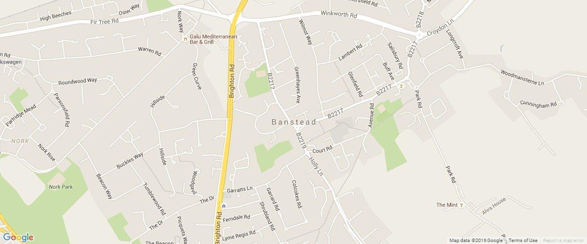 Banstead-map