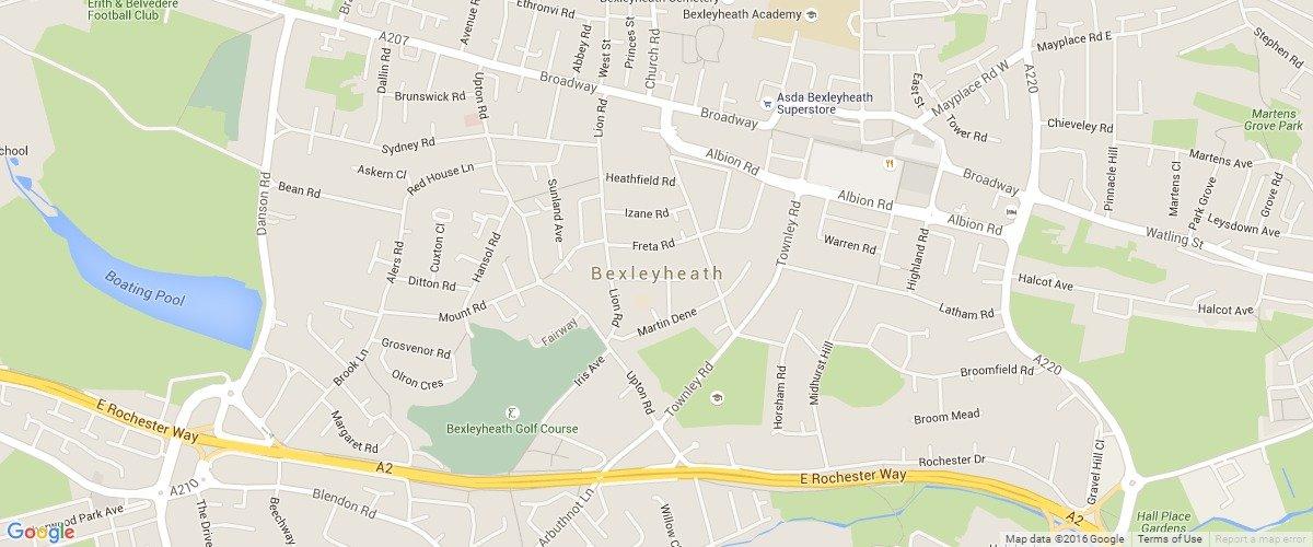 Bexleyheath-map