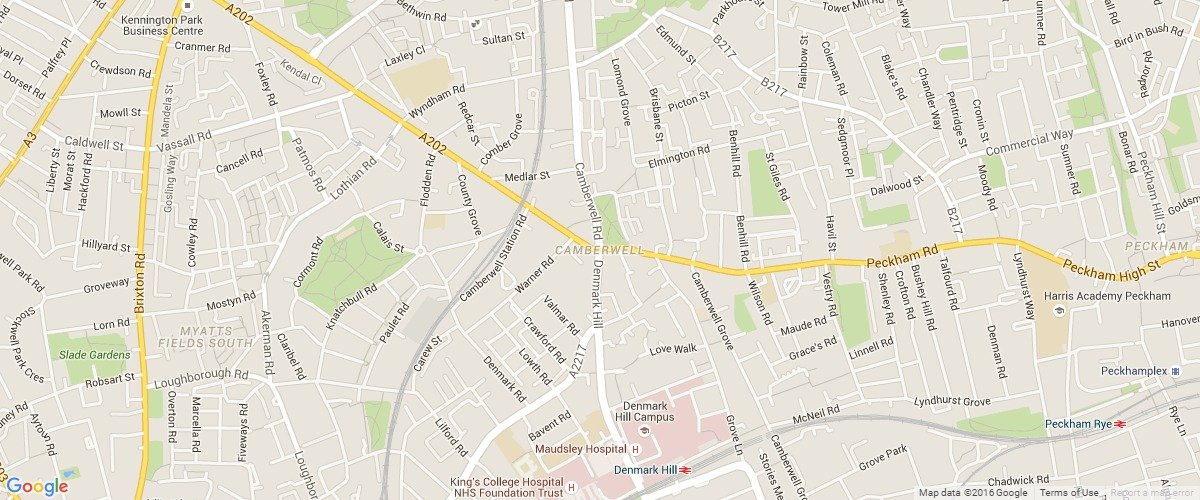 Camberwell-map