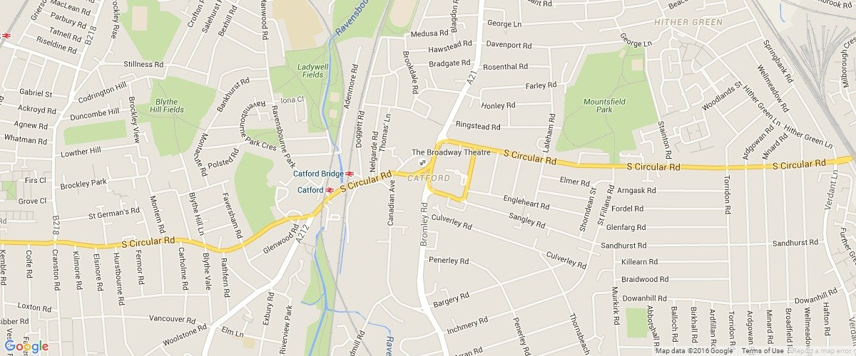 Catford-map