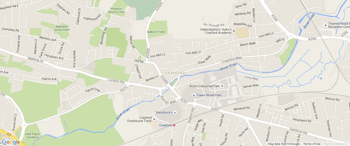 Crayford-map