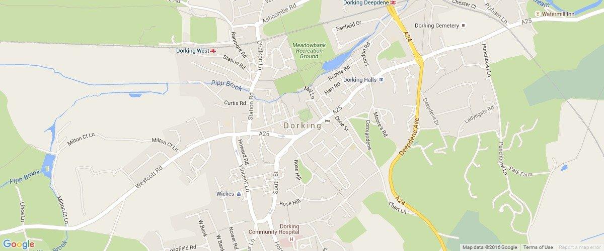 Dorking-map