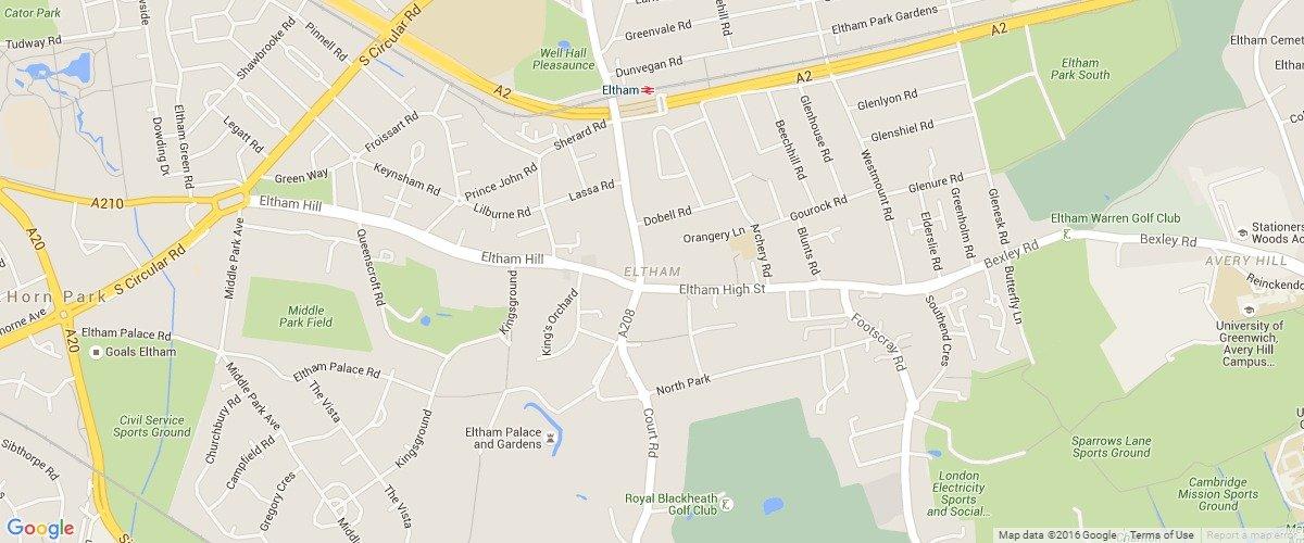 Eltham-map