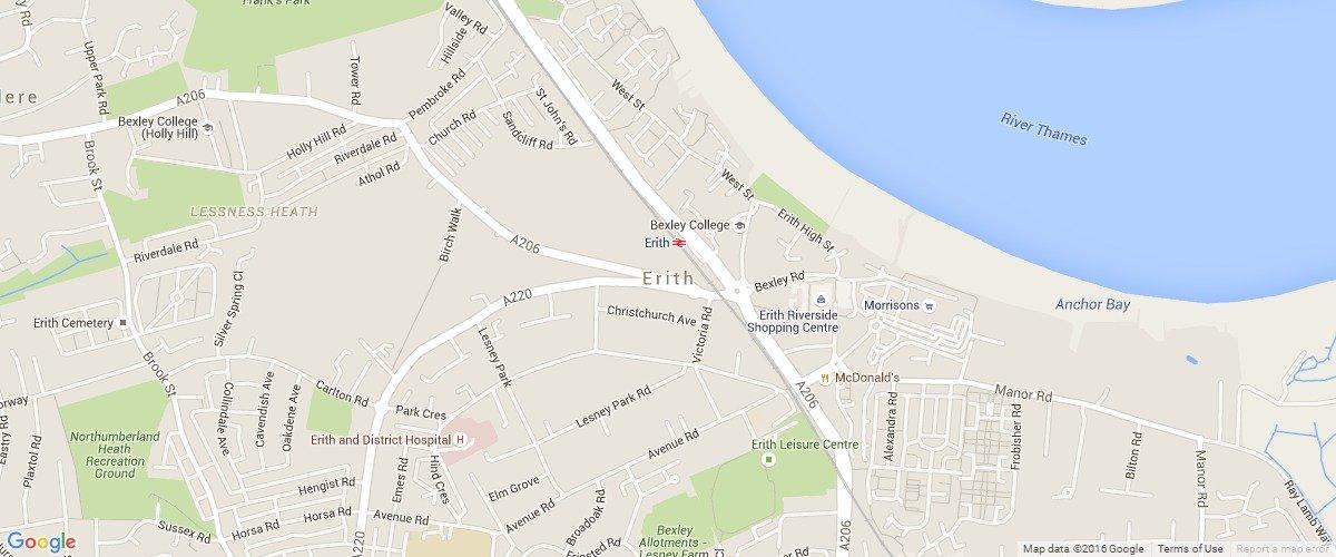 Erith-map