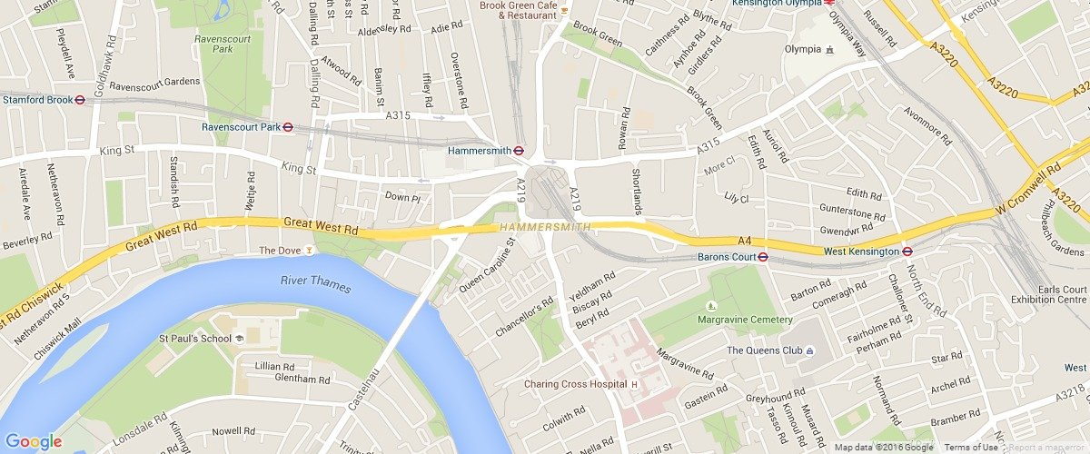 Hammersmith-map