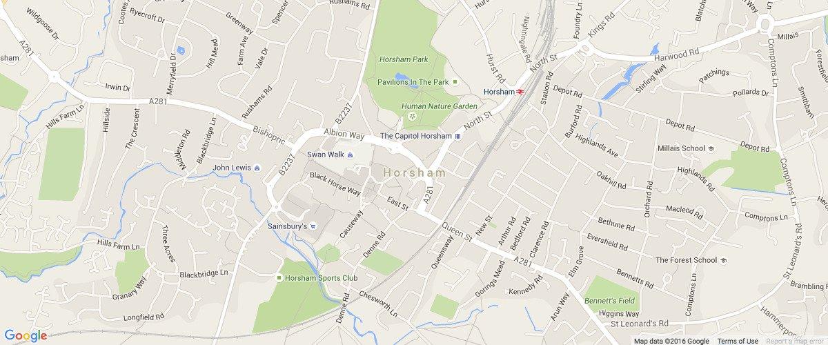 Horsham-map