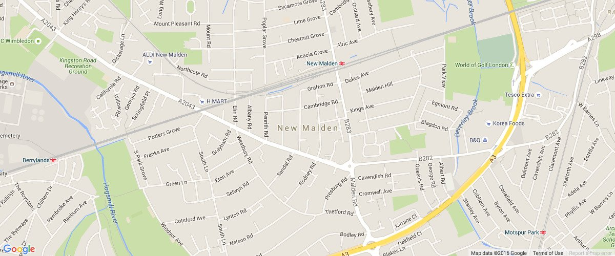 New Malden London-map