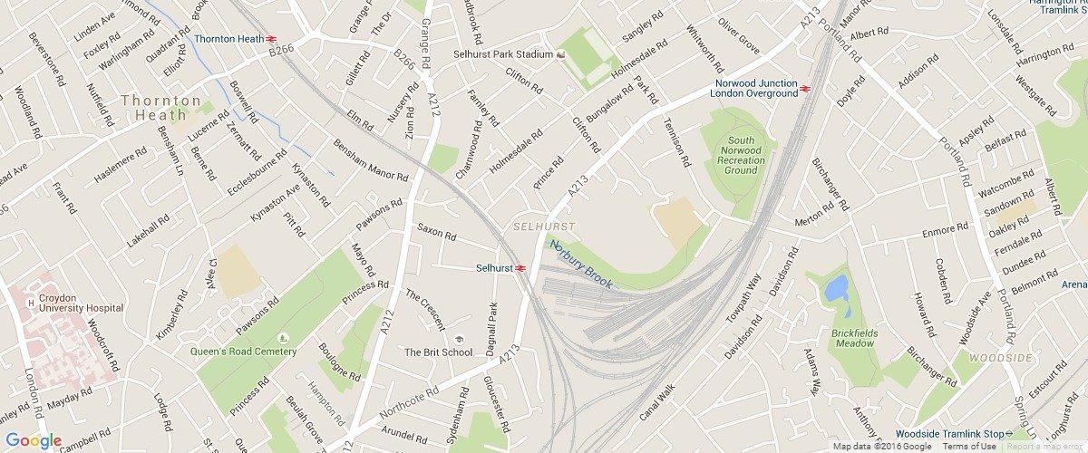 Selhurst-map