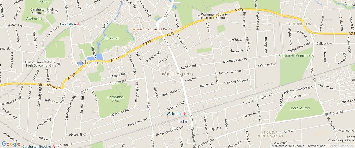 Wallington-map