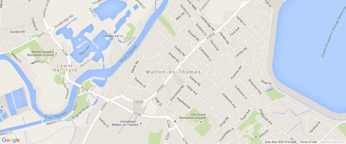 Walton-On-Thames-map