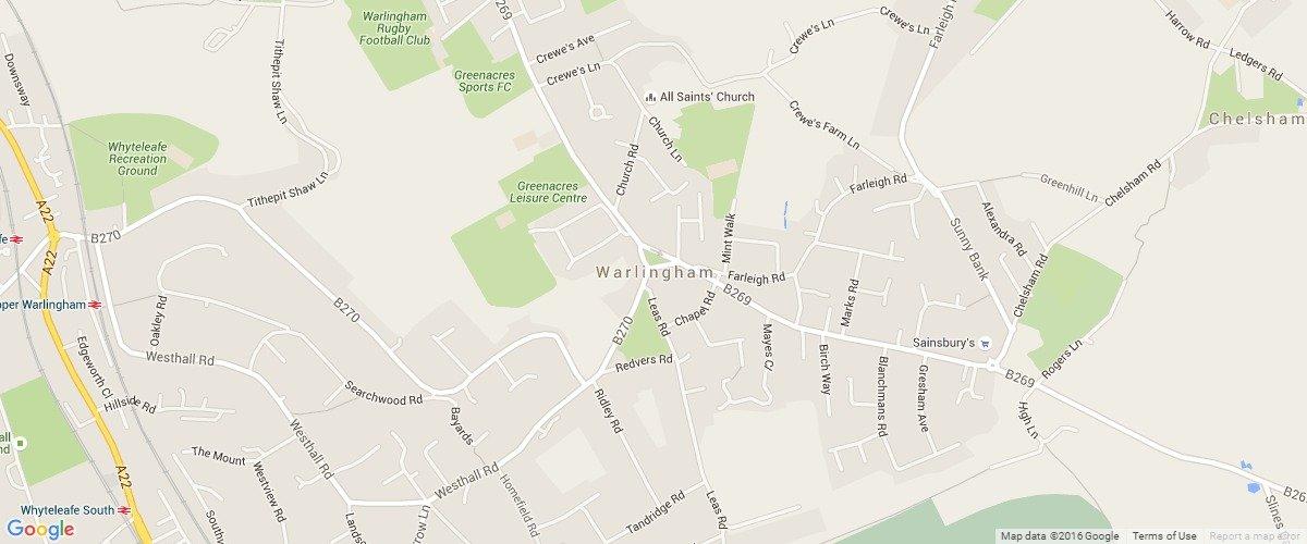 Warlingham-map