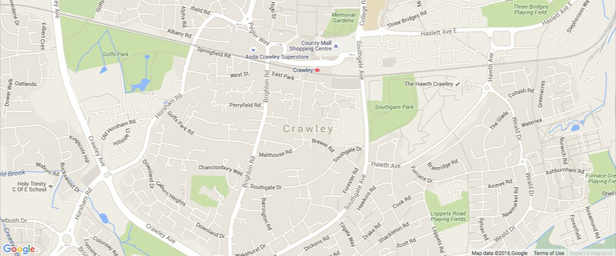 crawley-map