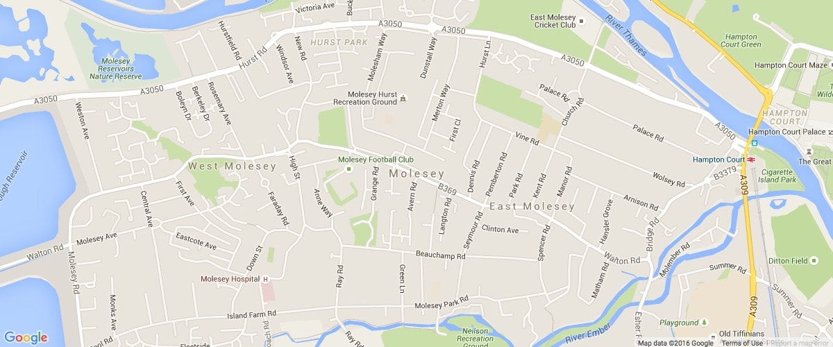 Molesey london-map