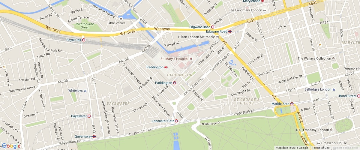 Paddington-map