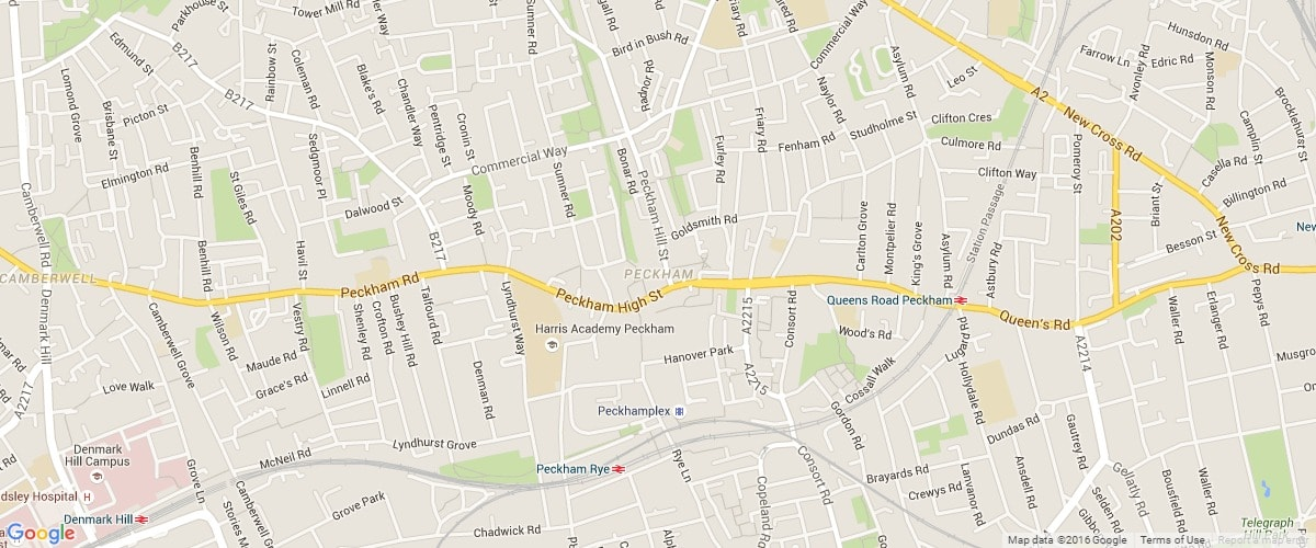 Peckham-map