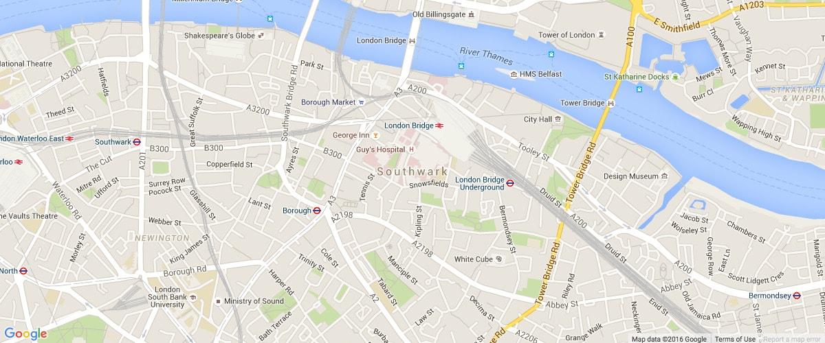 Southwark-map