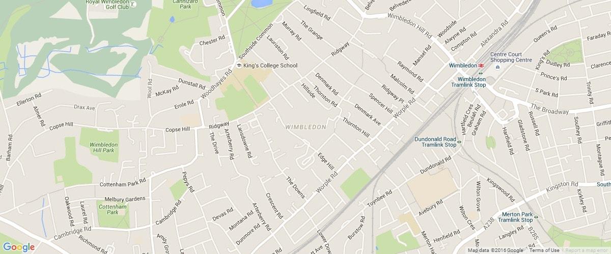 West-Wimbledon-map