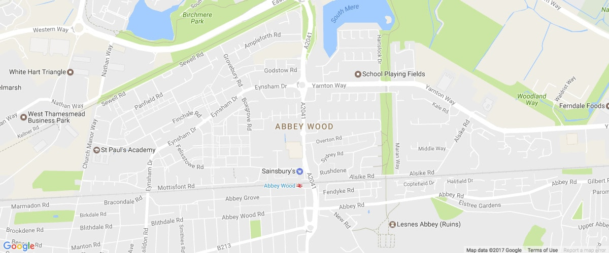 Falconwood London-map